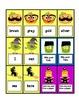 Halloween teacher table games for alphabet id, sight words