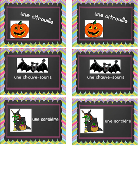 Halloween theme memory game FRENCH