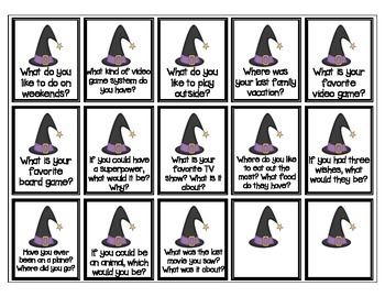 Halloween-themed Conversation / Social skills game for Speech Therapy / ESL