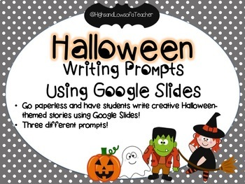 Halloween-themed Creative Writing Prompts for Google Drive & Google Classroom