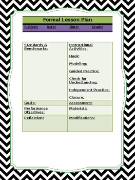 Halloween-themed Formal Lesson Plan Template