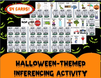 Halloween-themed Inferencing Activity -- Guess the mystery