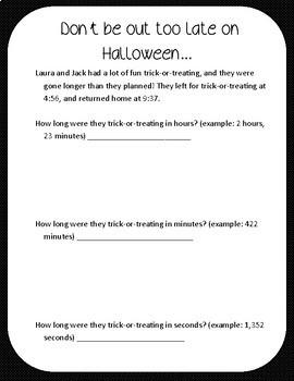 Halloween-themed Math Word Problems