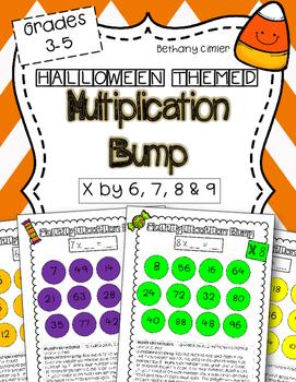 Halloween themed Multiplication BUMP {{Grades 3-5}}