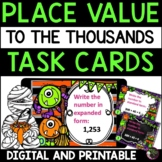 Place Value Task Cards- Halloween theme