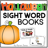 Halloween themed Sight Word Books -- Set of 4