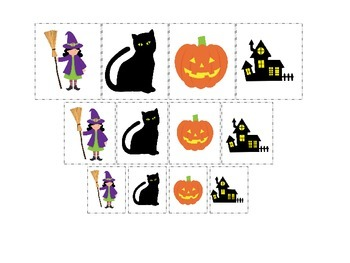 Halloween themed Size Sorting printable preschool learning game.  Daycare.