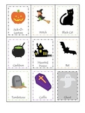 Halloween themed Three Part Matching printable preschool c