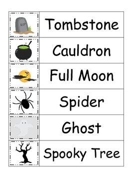 Halloween themed Word Wall theme for Daycare Teachers.  Printable Word Wall.