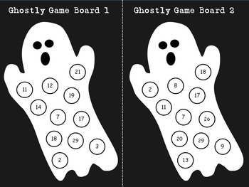 Halloween themed addition game (grades 1 - 2)