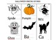 Halloween themed beginning and ending sounds practice