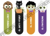 Halloween themed bookmarks (in Spanish and blank) - Marcap