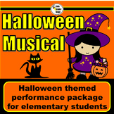 Halloween themed script for single class or large group musical performance