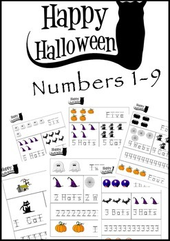 Halloween tracer numbers 1-9