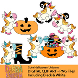 Halloween unicorn clip art