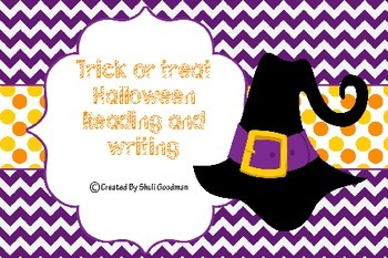 Halloween unit for writing and reading