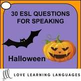 Halloween vocabulary - 30 ESL Halloween speaking prompt question cards