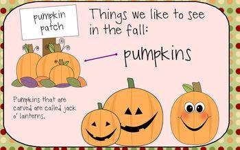Halloween vocabulary and activities
