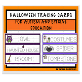 Halloween vocabulary tracing cards for Autism and Special Education