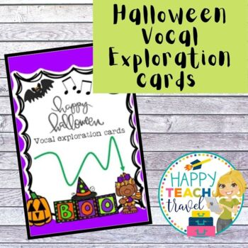 Halloween vocal exploration cards