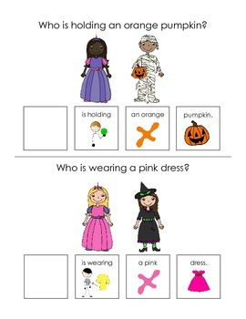 """Halloween """"who"""" Questions Interactive Book"""