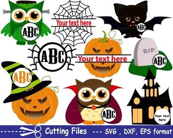 Halloween witch spiderweb pumpkin EPS SVG DXF school monst