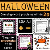 Halloween word problems (addition and subtraction)