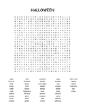 Halloween - word search - 46 words - challenging