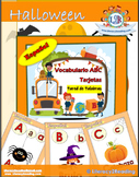 Halloween word wall cards in Spanish