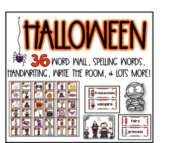 Halloween word wall fun
