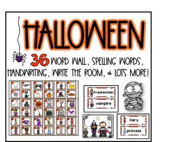 Halloween word wall fun