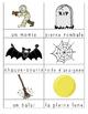 Halloween word work/french conversation center