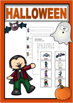 Halloween - worksheets, word card and posters