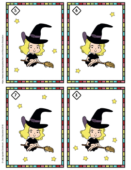 Halloween write and wipe counting cards ( count for 1 to 20 )