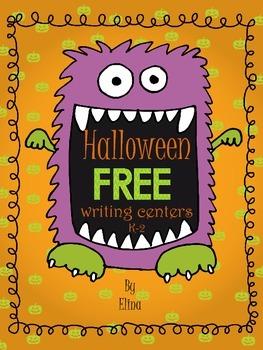 Halloween writing center FREEBIE