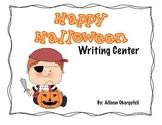 Halloween writing center