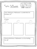 Halloween writing graphic organizer