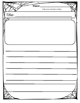 Halloween writing template