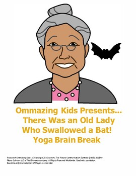 Halloween yoga brain break for There Was an Old Lady Who Swallowed a Bat!