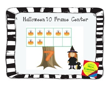 Halloween 10 Frame Center French or English