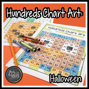 Hundreds Chart Art: Halloween/Autumn (Mystery Picture)