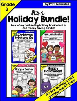 Halloween/Christmas/Valentine's Day/Easter Activity Book/Worksheets Print Go