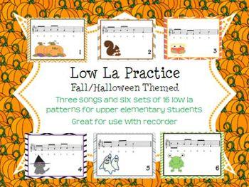 Halloween/Fall Low La Practice Activities