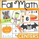 First Grade Halloween and Fall Math Center Bundle