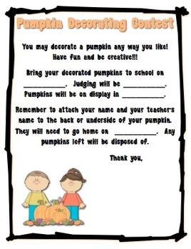 Halloween/Fall Pumpkin Decorating Contest