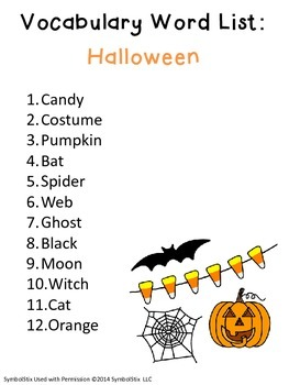Halloween/October Vocabulary Unit for Special Education