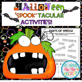 Halloween...'Spook'tacular Activities...Scary, Scary Halloween