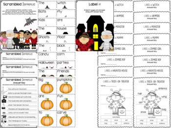October Time! {Halloween Writing and Labeling Packet}