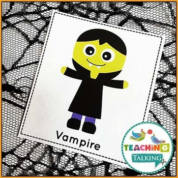 Halloween Vocabulary Cards (Freebie!)