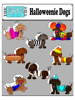 Halloweenie Dogs - Clip Art